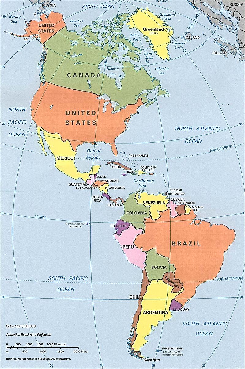 Доставка в Америку из Украины - карта / Доставка в Америку з України - карта