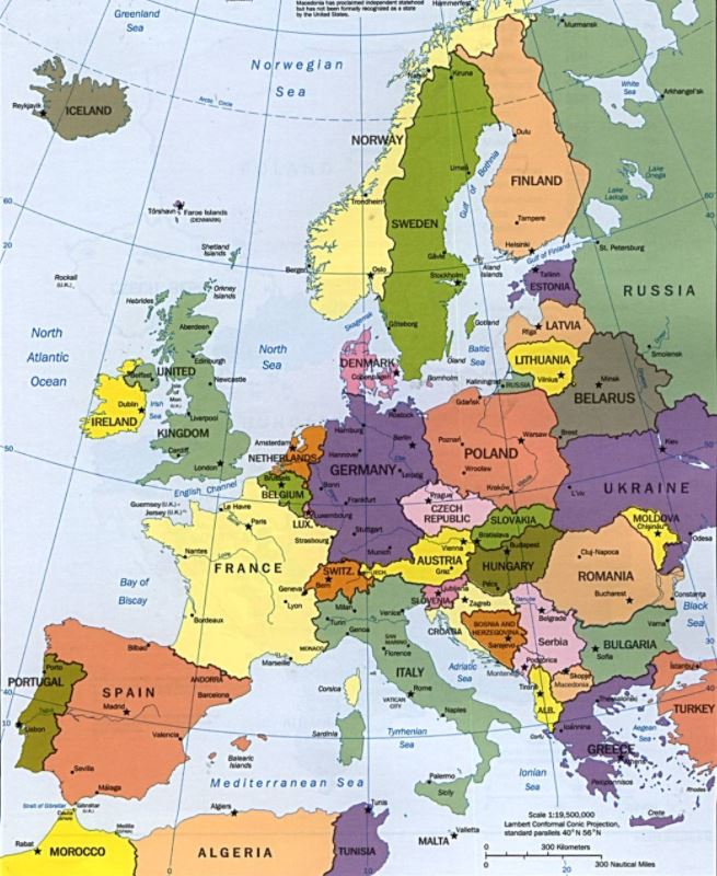 Доставка в Европу из Украины - карта