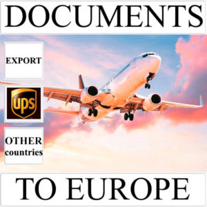Delivery of documents up to 0.5 kg to Europe from Ukraine (other countries) by UPS