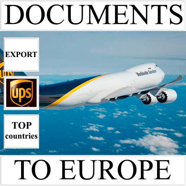 Delivery of documents up to 0.5 kg to Europe from Ukraine (top countries) by UPS