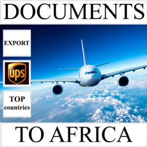 Delivery of documents up to 0,5 kg to Africa from Ukraine (top countries) by UPS