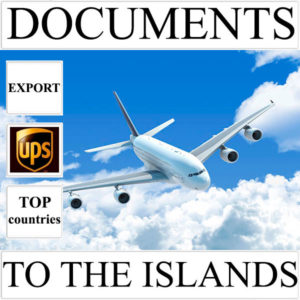 Delivery of documents up to 0,5 kg to the islands over the world from Ukraine by UPS