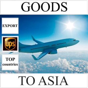 Delivery of goods up to 1 kg to Asia from Ukraine (top countries) by UPS