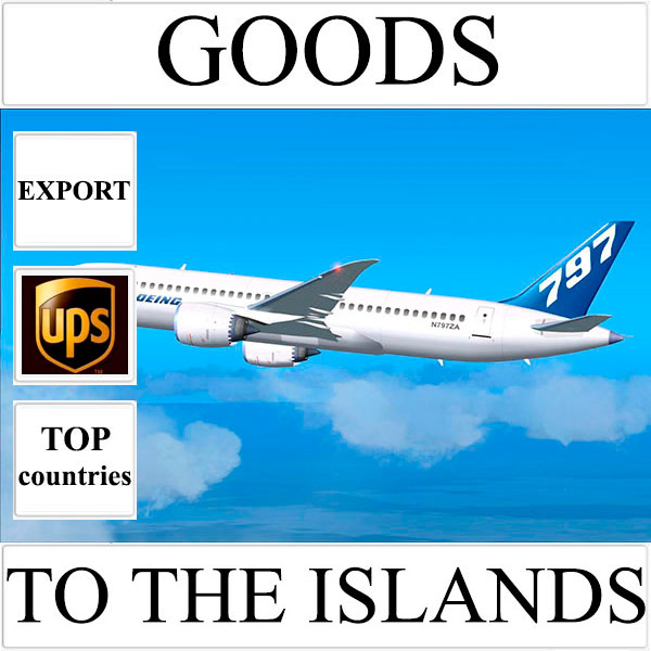 Delivery of goods up to 1 kg to the islands over the world from Ukraine by UPS