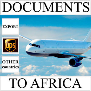 Delivery of documents up to 0,5 kg to Africa from Ukraine (other countries)