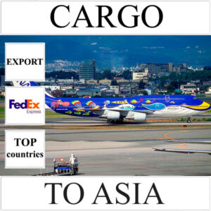Delivery of cargo up to 10 kg to Asia from Ukraine (top countries) by FedEx