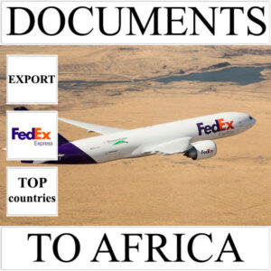 Delivery of documents up to 0,5 kg to Africa from Ukraine (top countries) by FedEx