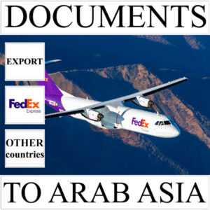 Delivery of documents up to 0,5 kg to Arab Asia from Ukraine by FedEx