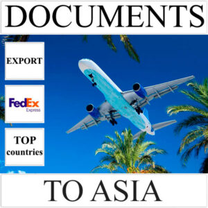 Delivery of documents up to 0,5 kg to Asia from Ukraine (top countries) by FedEx