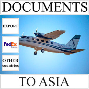 Delivery of documents up to 0,5 kg to Asia from Ukraine (other countries) by FedEx