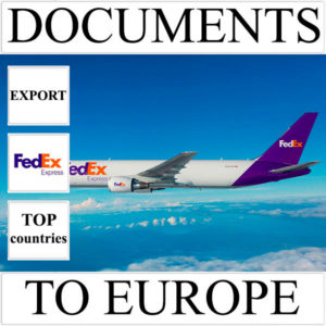 Delivery of documents up to 0.5 kg to Europe from Ukraine (top countries) by FedEx