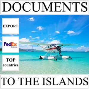 Delivery of documents up to 0,5 kg to the islands over the world from Ukraine by FedEx