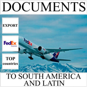Delivery of documents up to 0,5 kg to South America and Latin from Ukraine by FedEx