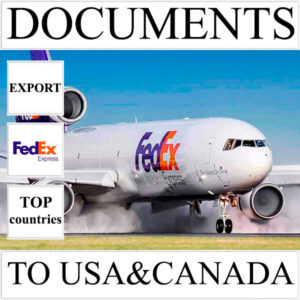 Delivery of documents up to 0,5 kg to USA and Canada from Ukraine by FedEx