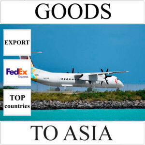 Delivery of goods up to 1 kg to Asia from Ukraine (top countries) by FedEx