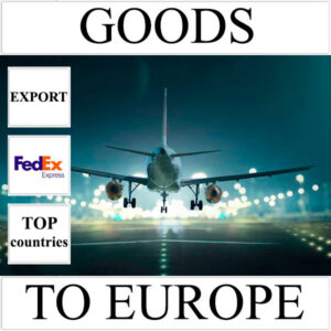 Delivery of goods up to 1 kg to Europe from Ukraine (top countries) by FedEx