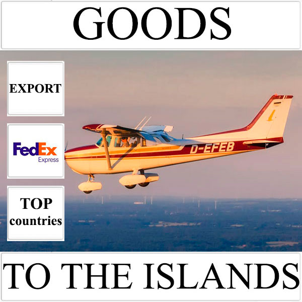 Delivery of goods up to 1 kg to the islands over the world from Ukraine by FedEx