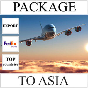 Delivery of package up to 2 kg to Asia from Ukraine (top countries) by FedEx