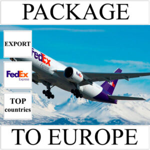 Delivery of package up to 2 kg to Europe from Ukraine (top countries) by FedEx