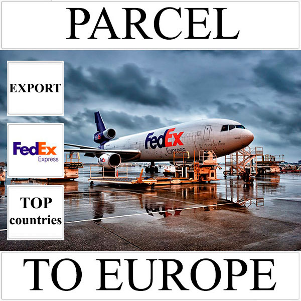 Delivery of parcel up to 5 kg to Europe from Ukraine (top countries) by FedEx