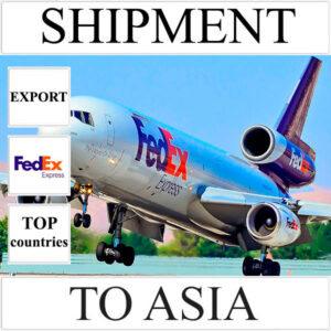 Delivery of shipment up to 0,5 kg to Asia from Ukraine (top countries) by FedEx