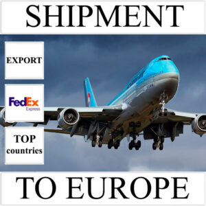 Delivery of shipment up to 0.5 kg to Europe from Ukraine (top countries) by FedEx