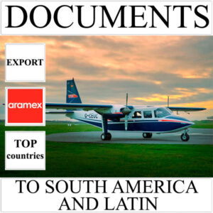 Delivery of documents up to 0.5 kg to South America and Latin from Ukraine by Aramex