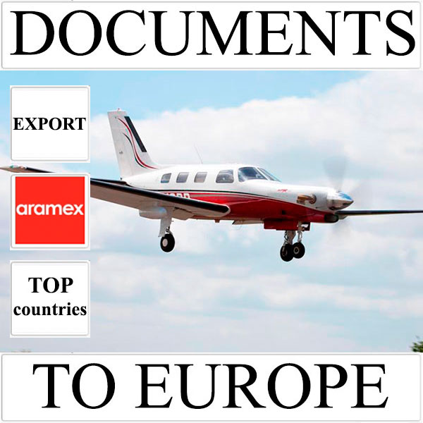 Delivery of documents up to 0,5 kg to Europe from Ukraine (top countries) by Aramex