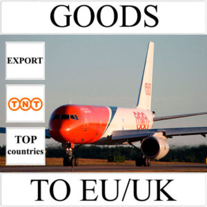 Delivery of goods up to 1 kg to EU/UK from Ukraine (top countries) by TNT