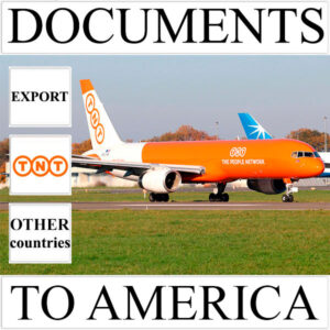 Delivery of documents up to 0.5 kg to America from Ukraine (other countries) by TNT